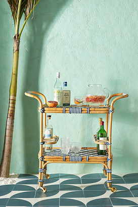 Anthropologie Woven Bistro Bar Cart By in Blue Size ALL