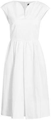 Piazza Sempione Cap-Sleeve Poplin Fit-&-Flare Dress