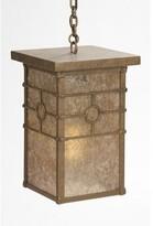 Mica Historic California 1-Light Outdoor Hanging Lantern Steel Partners Finish: Rust, Shade Type: Amber
