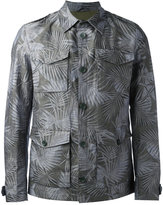 Herno leaf print shirt jacket - men - Cotton/Linen/Flax/Polyester - 48