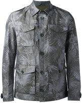 Herno leaf print shirt jacket