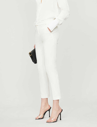 Pinko Bello 66 high-rise skinny crepe cropped trousers