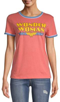 Wonder Woman Juniors' Graphic Ringer T-Shirt