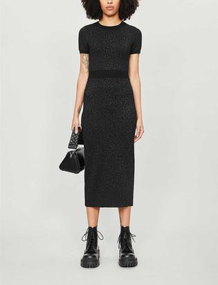 The Kooples Stretch-jersey jacquard animal-print dress