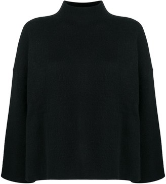 Allude Funnel-Neck Flared Top