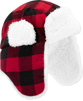 Carter's Carter Baby Boys Buffalo-Check Hat With Faux-Sherpa Lining