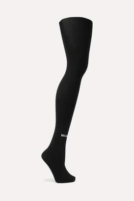 Balenciaga Printed Tights - Black