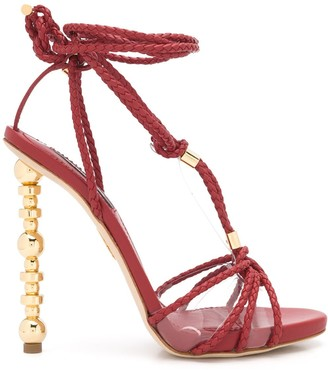 DSQUARED2 Woven Strappy High Heel Sandals