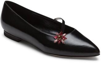Alexis Isabel - Anoki Black Leather Slippers