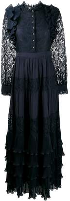 Just Cavalli ruffle tiered maxi dress