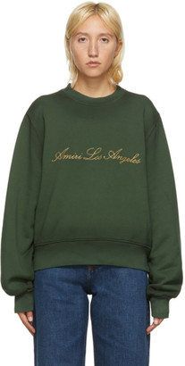 Amiri Green Los Angeles Sweatshirt