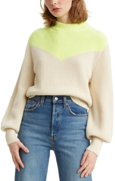 Levi's Fiona Colorblocked Bishop-Sleeve Sweater