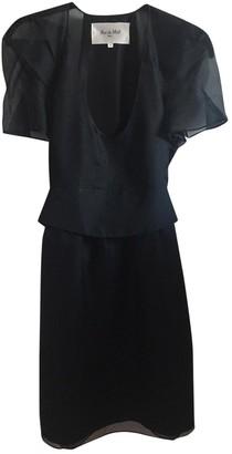 Rue Du Mail Black Silk Dress for Women