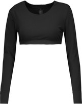 Norma Kamali Cropped stretch-jersey top