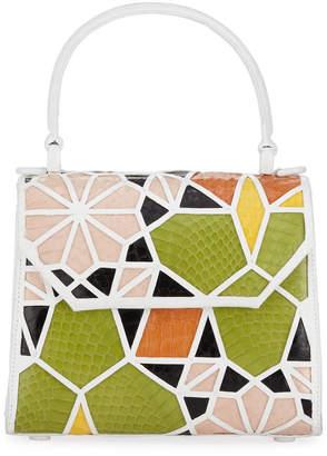 Nancy Gonzalez Lily Crocodile Patchwork Mini Top-Handle Bag