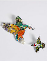 M&S Collection 2 Pack Tropical Bird Brooches