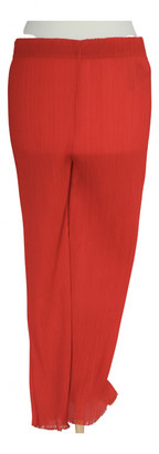 By Malene Birger Red Polyester Trousers
