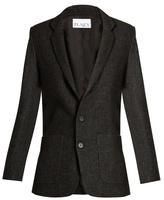 Raey Long-line speckled-tweed blazer