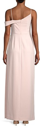 Laundry by Shelli Segal Asymmetric Cold-Shoulder Gown