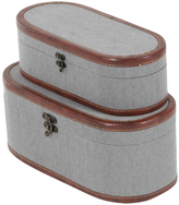 Oval Globe Trotter Boxes (Set of 2)
