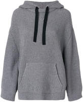 RED Valentino ribbed knit hoodie