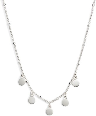 Argentovivo Mirror Charm Short Necklace