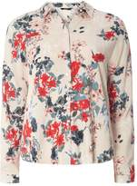 Only **Only Cream Long Sleeve Floral Shirt