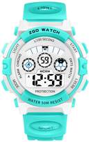 Linwach Green Kids Boy's Girl's Chronograph Digital Waterproof Watches