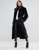 Missguided Premium Faux Fur Longline Coat