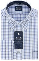 Eagle Men's Flex Regular Fit Check Buttondown Collar Dress Shirt