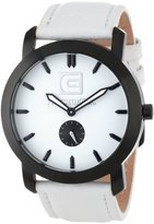 Rockwell Time Unisex CT108 Cartel White Leather Band White Dial Black Case Watch