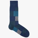 HUGO BOSS BOSS Square Block Socks, Teal