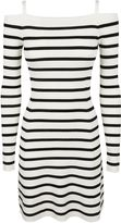 Theory Pirellia Striped Off-shoulder Dress