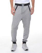 2xist French Terry Drop-Inseam Sweatpants, Light Gray