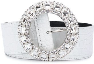 Alessandra Rich Crystal Buckle Belt