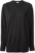 Acne Studios slashed long sleeve sweater