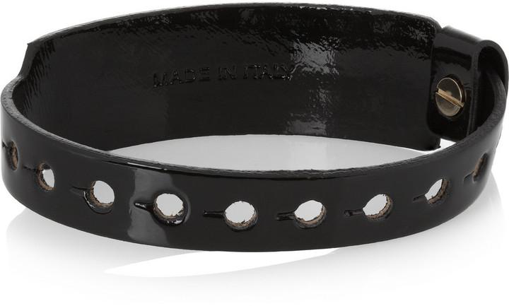 McQ Festival patent-leather bracelet