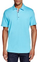 Robert Graham Stoked Stripe Placket Slim Fit Polo Shirt - 100% Bloomingdale's Exclusive