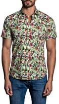 Jared Lang Tropical Print Sport Shirt