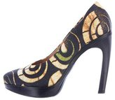 Dries Van Noten Woven Platform Pumps