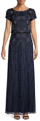 Adrianna Papell Embellished Beaded Gown