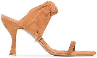 BRIGITTE suede bow detail sandals