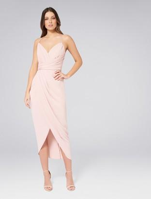 Forever New Charlotte Drape Maxi Dress - Nude - 4