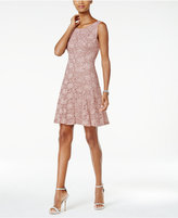 Connected Sequined Lace A-Line Dress