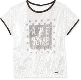 GUESS Awesome Sequin Graphic-Print T-Shirt, Big Girls (7-16)