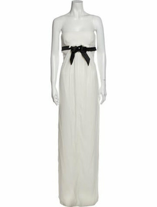 Valentino Vintage Long Dress White