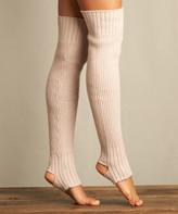 Lemon Legwear Women's Leg Warmers Blushed - Blush Wool-Blend Stirrup Leg Warmers - Women