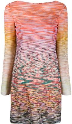Missoni intarsia knit boat-neck dress