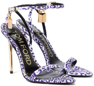 Tom Ford Padlock leopard-print sandals