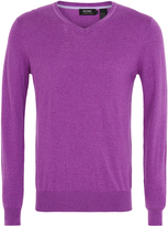 Oxford V-Neck Knit Purple X